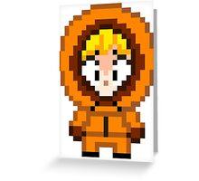South Park Kenny McCormick Mini Pixel Greeting Card