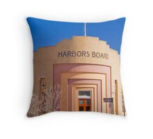 Harbors Board Building at Port Adelaide Throw Pillow
