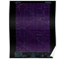 Maine USGS Historical Map Blue Brook 104938 1986 24000 Inversion Poster
