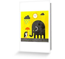 Elephant and Penguin Greeting Card