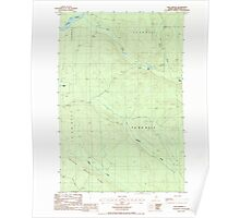 Maine USGS Historical Map Blue Brook 104938 1986 24000 Poster