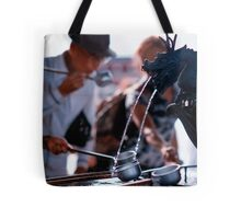 Cleansing the body before entering the shrine, Asakusa, Tokyo, Japan Tote Bag