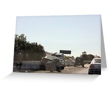 Toyota Avalon Totaled Greeting Card