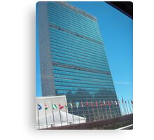united nations building Canvas Print