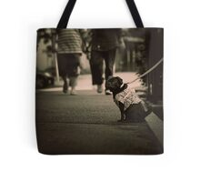 Cute dog with attitude, Tokyo, Japan Tote Bag
