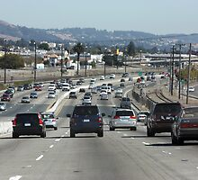 Traffic on Interstate 880 by Laurie Puglia