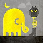 Elephant and Owl by Scott Partridge