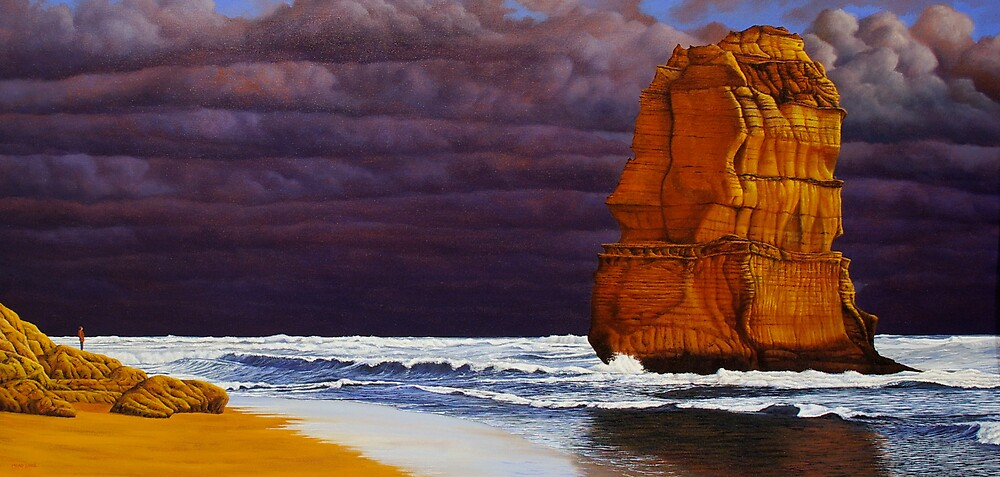 """""""The Stand Off"""" 66x137cm, oil on linen. by Jason Moad"""