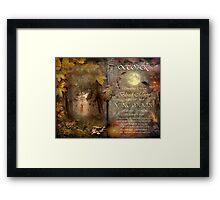 October - Vine Moon Framed Print