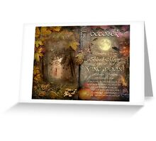 October - Vine Moon Greeting Card