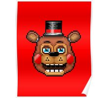 Five Nights at Freddy's 2 - Pixel art - Blue eyes Toy Freddy Poster