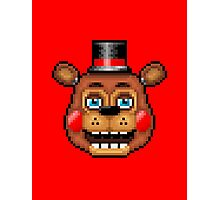 Five Nights at Freddy's 2 - Pixel art - Blue eyes Toy Freddy Photographic Print