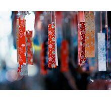 Strips of hanging Japanese paper; Asakusa, Tokyo, Japan Photographic Print
