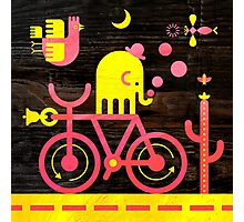 Bicycle Elephant Photographic Print
