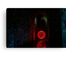 Red Ball at Reculver Towers Canvas Print