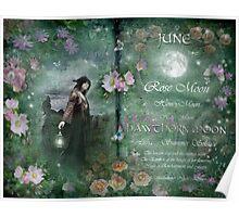 June : Hawthorn Moon Poster