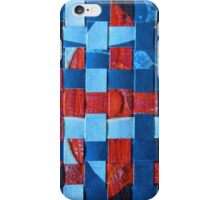 Red and Blue Patchwork iPhone Case/Skin