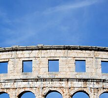 Ancient Roman Amphitheater in Pula, Croatia by Petr Svarc