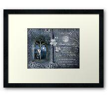 Januray : Birch Moon Framed Print