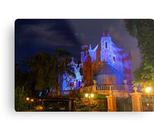 Welcome to the Haunted Mansion Metal Print