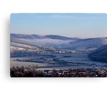 Tweed Valley Winter Sunset Canvas Print