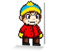 Eric Cartman Pixel Greeting Card