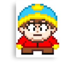 South Park Eric Cartman Mini Pixel Canvas Print