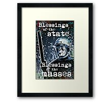 THX 1138 george lucas lucasfilm chrome robot 1970's science fiction sci fi police android hard sci fi Framed Print