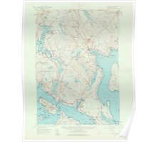 Maine USGS Historical Map Blue Hill 306478 1957 62500 Poster