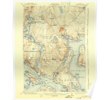 Maine USGS Historical Map Blue Hill 460214 1904 62500 Poster