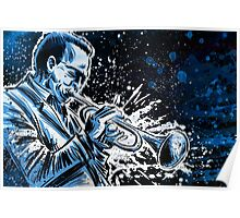 miles davis free jazz music illustration drawing trumpet saxophone john coltrane dizzy gillespie Poster