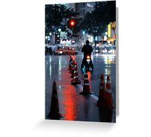 Cones in the rain: Shibuya, Tokyo, Japan. Greeting Card