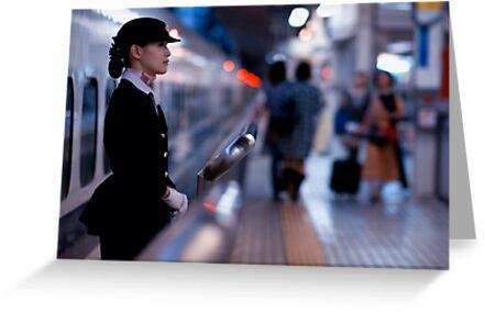 Bullet-train babe; Tokyo, Japan by Alfie Goodrich