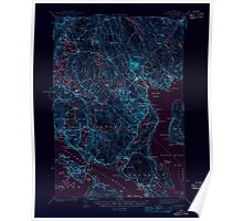Maine USGS Historical Map Blue Hill 460216 1944 62500 Inversion Poster