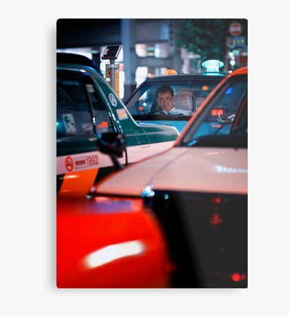 In the queue for the next customer: Shibuya Station, Tokyo Metal Print