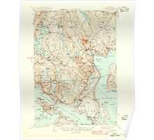 Maine USGS Historical Map Blue Hill 460216 1944 62500 Poster