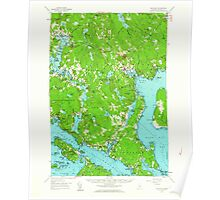 Maine USGS Historical Map Blue Hill 460217 1957 62500 Poster