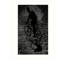 shadow cyclist Art Print