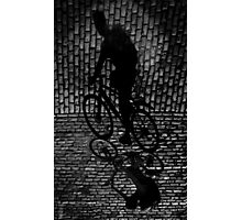shadow cyclist Photographic Print