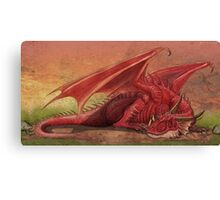 Sleeping red dragon Canvas Print