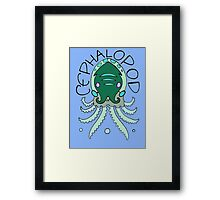 cephalopod in greens and blue Framed Print