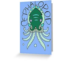 cephalopod in greens and blue Greeting Card