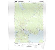 Maine USGS Historical Map Blue Hill 20110909 TM Poster