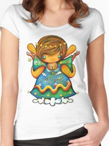 TShirt Watch Over Me Angel Women's Fitted Scoop T-Shirt