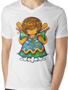 TShirt Watch Over Me Angel Mens V-Neck T-Shirt