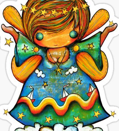 TShirt Watch Over Me Angel Sticker