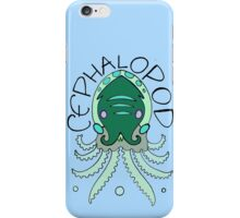 cephalopod in greens and blue iPhone Case/Skin