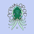 cephalopod in greens and blue by resonanteye
