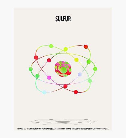 Sulfur - Element Art Photographic Print