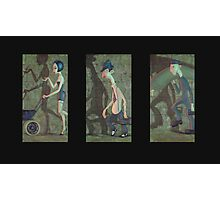 Suspicious Characters tryptich Photographic Print